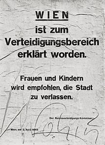 Hitlers Befehl macht Wien zur Frontstadt