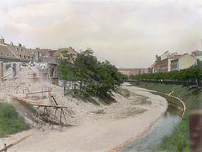 Der unregulierte Wienfluss am Magdalenengrund
