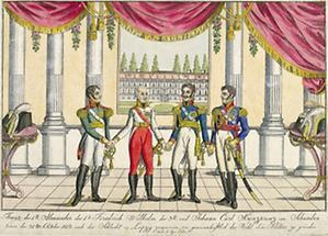 Zusammentreffen der siegreichen Verbündeten 1813