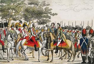 Empfang der Monarchen Rußlands und Preußens
