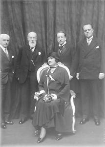 Hedwig Bleibtreu, Otto Tressler und Anton Wildgans