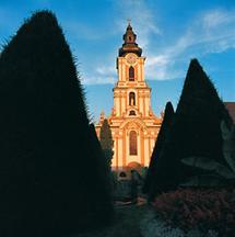 Turm der Stiftskirche Wilhering