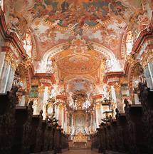Innenansicht der Stiftskirche, Wilhering