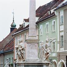 Hoher Platz mit Mariensäule Wolfsberg, Kärnten