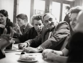Schriftstellertreff im Cafe Hawelka