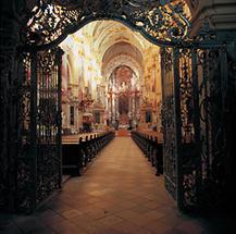 Innenansicht der frühgotischen Klosterkirche