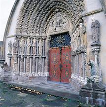 Romanisches Portal in Mähren