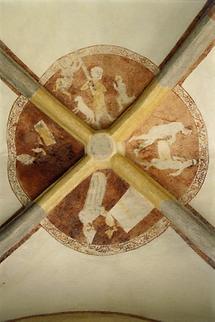 Fresko im Kreuzgang von Sittich
