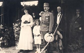 Kaiser Karl I mit seiner Frau Zita