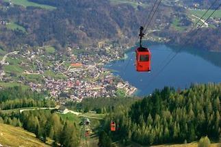 Blick vom Zwölferhorn auf St. Gilgen