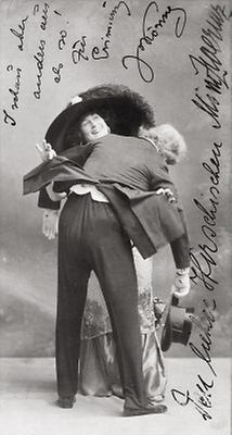Mizzi Zwerenz und Josef König in Puppenmädel