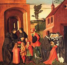 Bernhardi-Altar, Szenen aus dem Leben des hl. Bernhard