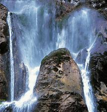 Wasserfall, Papstmauer bei Greith im Salztal