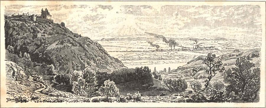 Illustration Blick vom Kahlenberg