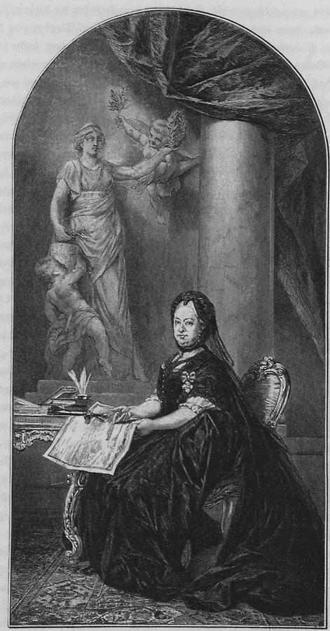 Illustration Maria Theresia als Witwe