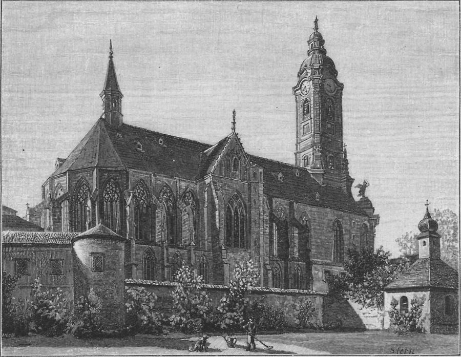 Illustration Stiftskirche in Zwettl