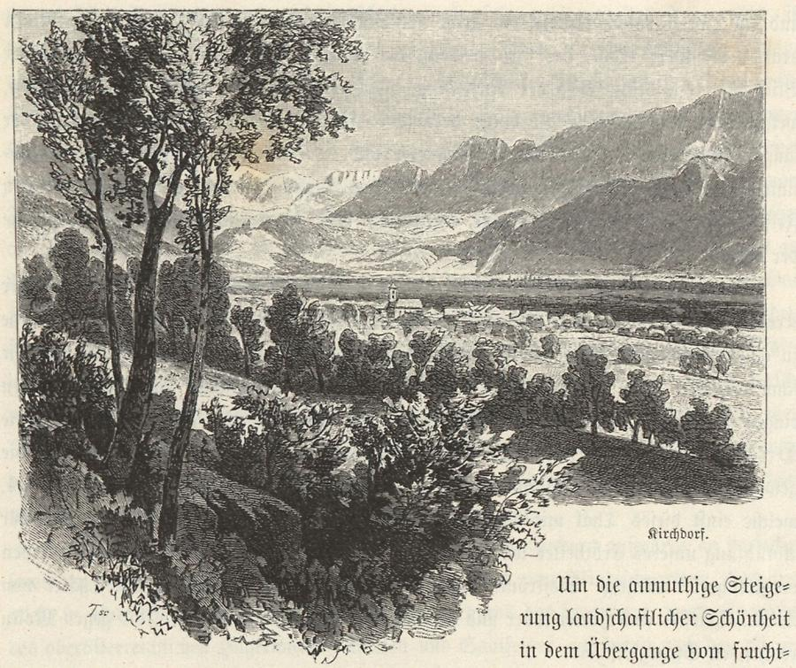 Illustration Kirchdorf