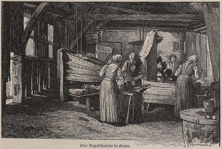 Illustration Nagelschmiede in Kropp