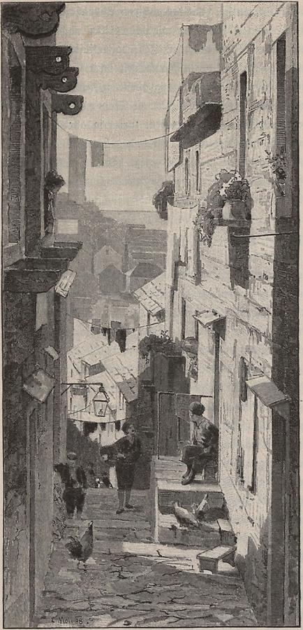 Illustration Kleine Gasse in Ragusa