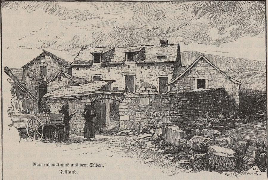 Illustration Bauernhaus