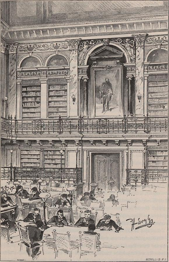 Illustration Lesesaal der Universitäts-Bibliothek