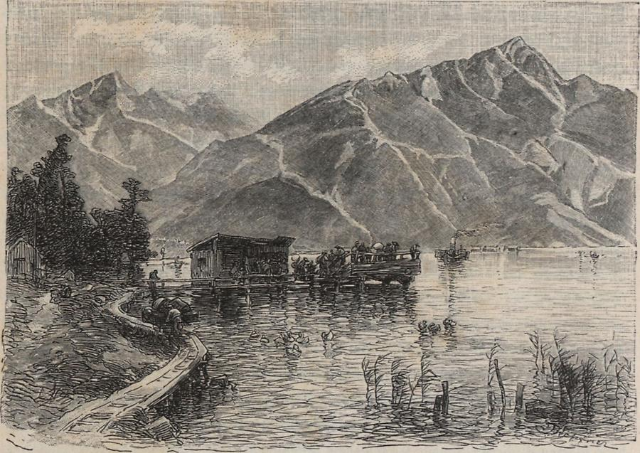 Illustration Achensee, Buchau