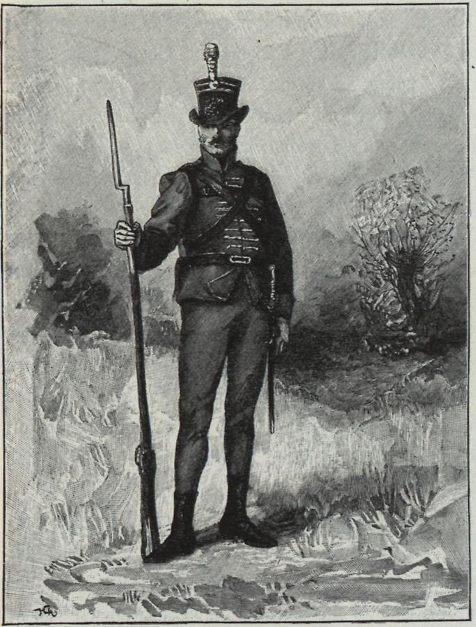 Illustration Soldat der Legion Erzherzog Karl