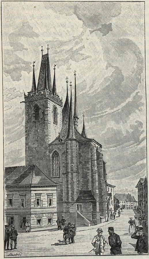 Illustration Nikolauskirche in Laun