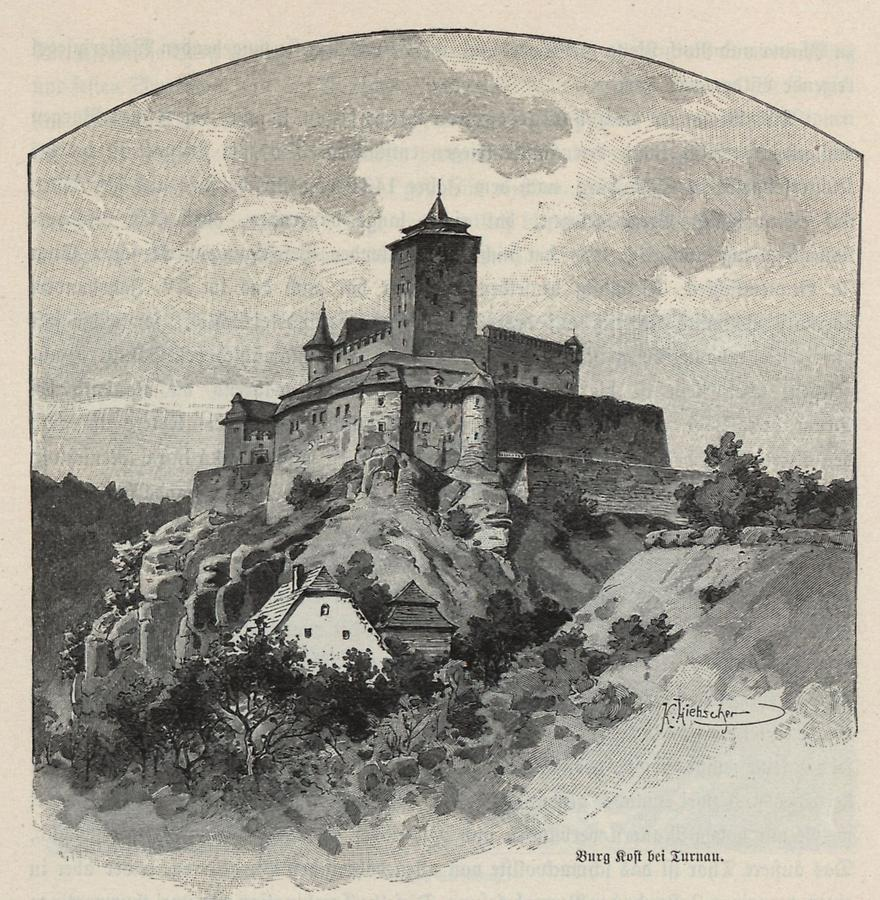 Illustration Burg Kost bei Turnau