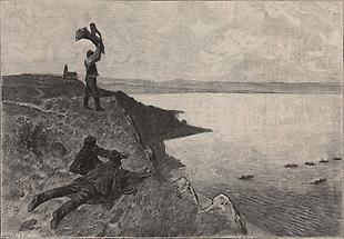 Fischfang auf dem Plattensee
