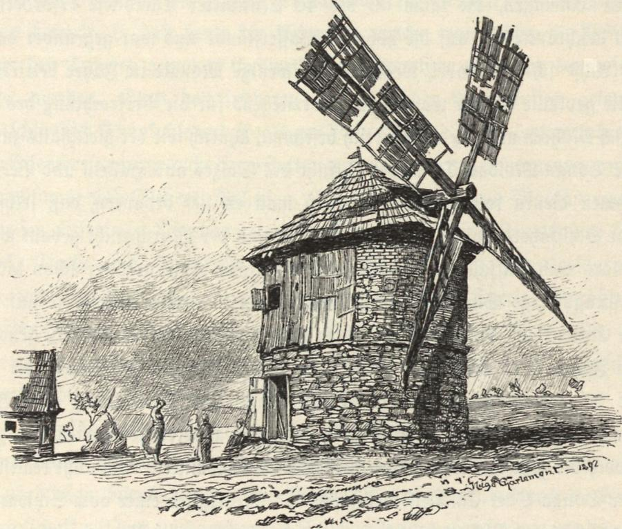 Illustration Windmühle bei Holeschau