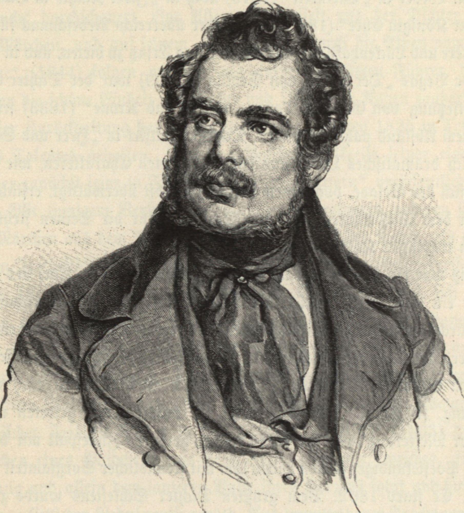 Johann Christian Freiherr von Zedlitz; nach der Lithographie von Josef Kriehnber - 00000631