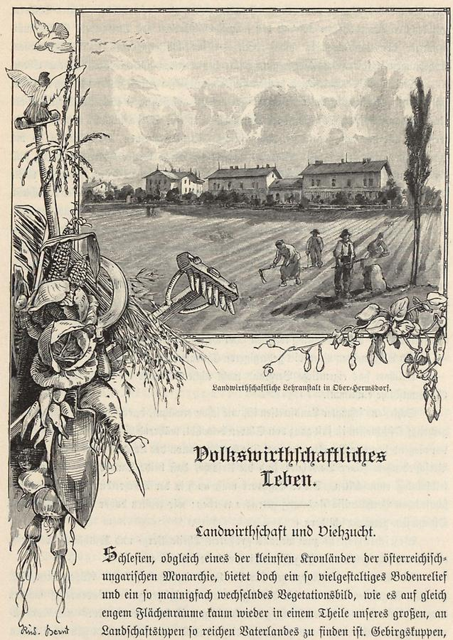 Illustration Lehranstalt in Ober-Hermsdorf