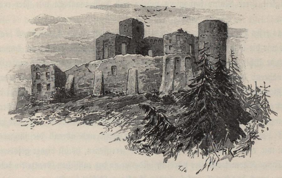 Illustration Schlossruine Teczyn
