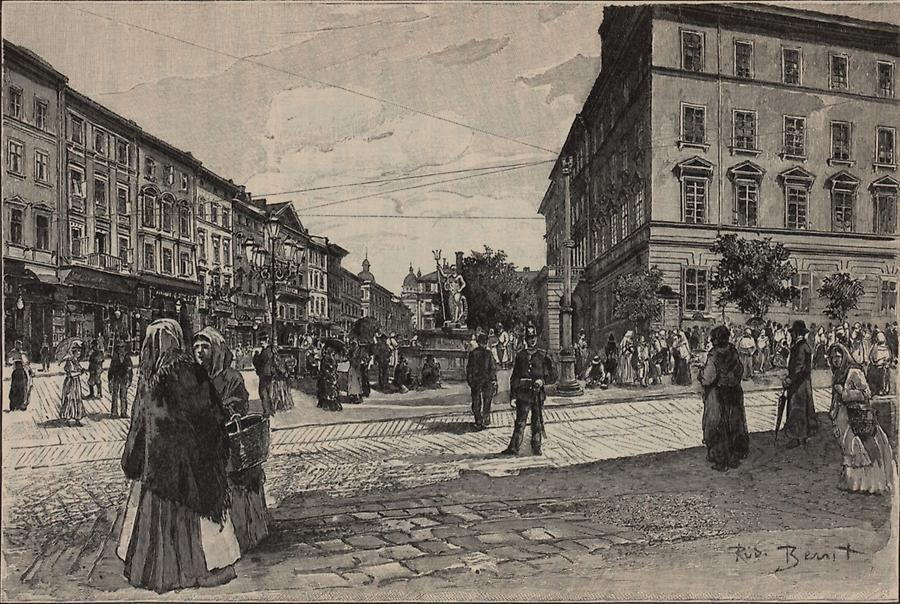 Illustration Ringplatz in Lemberg