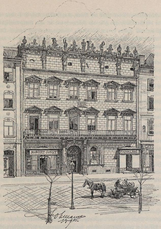 Illustration Sobieski-Haus in Lemberg