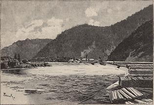 Holzschwemme bei Zolyom-Brezo
