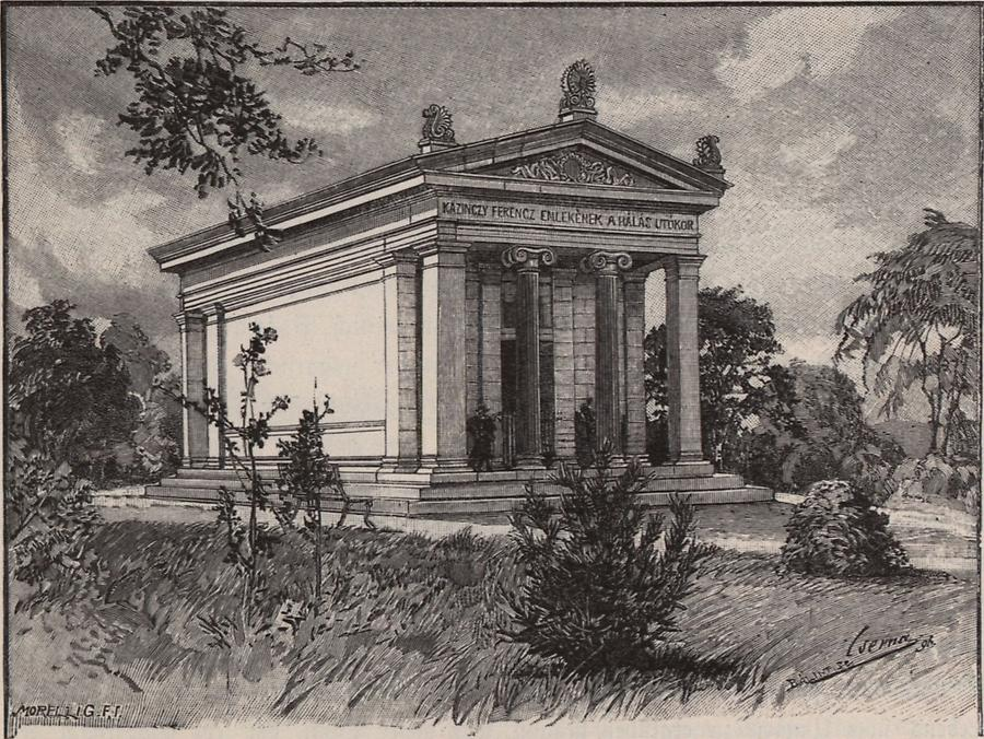 Illustration Ehrentempel Franz Kazinczys
