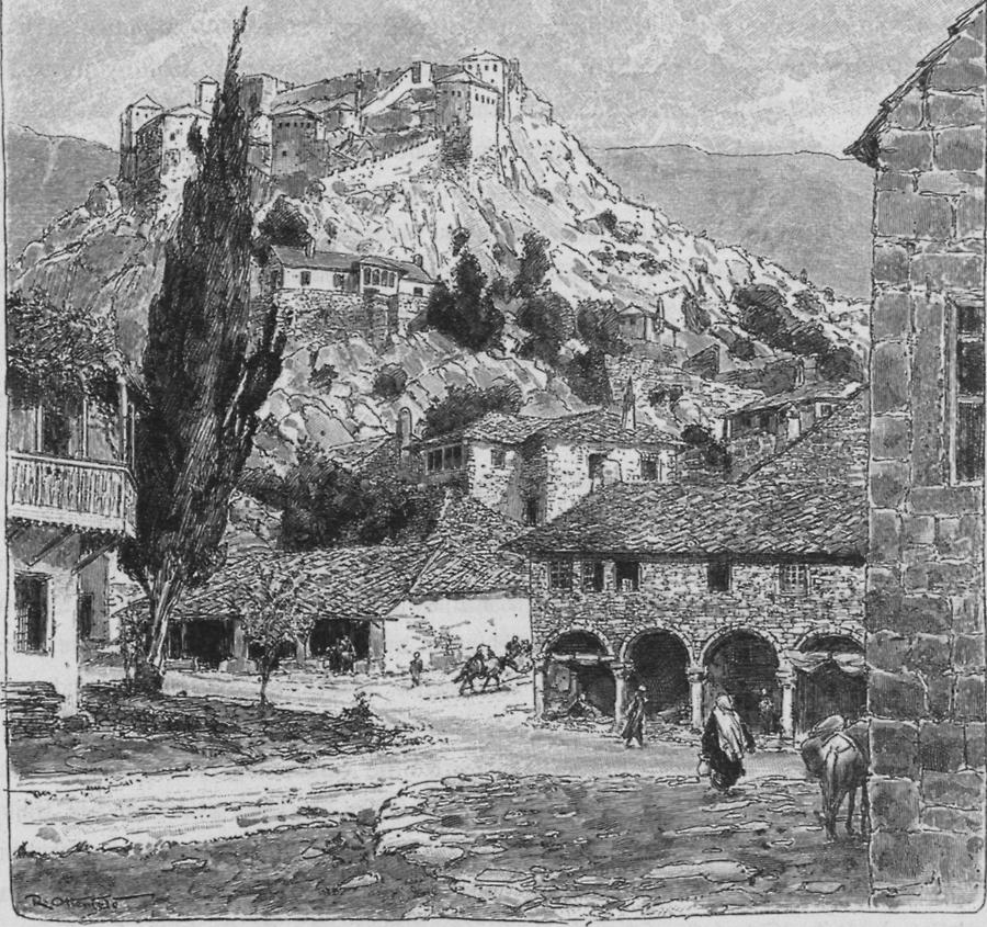 Illustration Stadt Stolac