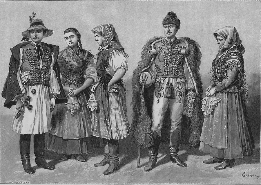 Illustration Szilagysager Volkstracht