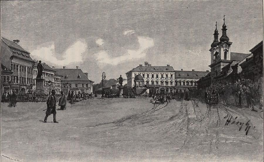 Illustration Hauptplatz in Maros-Vasarhely