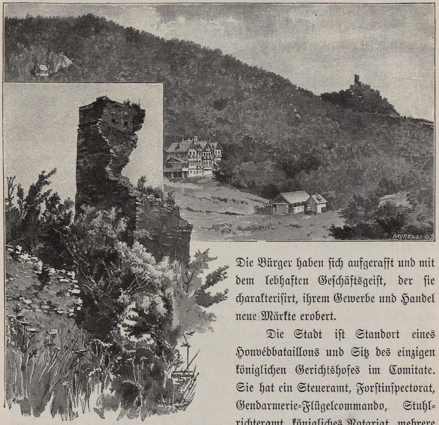 Illustration Ruinen der Burg Balvanyos