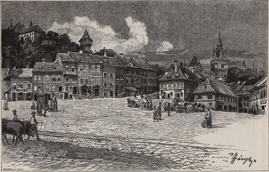 Illustration Hauptplatz in Schäßburg