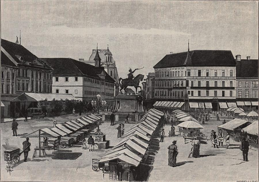 Illustration Jelacicplatz in Agram