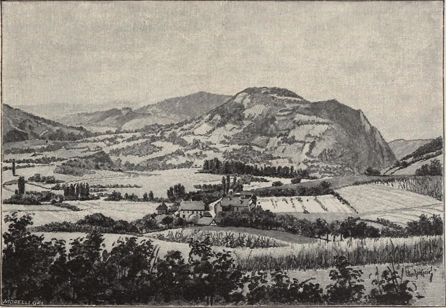 Illustration Landschaft aus Zagorje