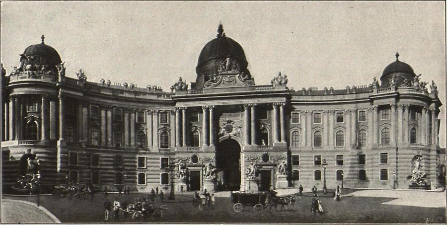 Illustration Michaelertrakt der Hofburg