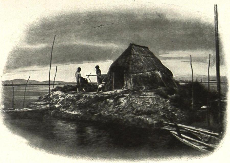Illustration Fischerhütte Capanna di plocatore in den Lagunen