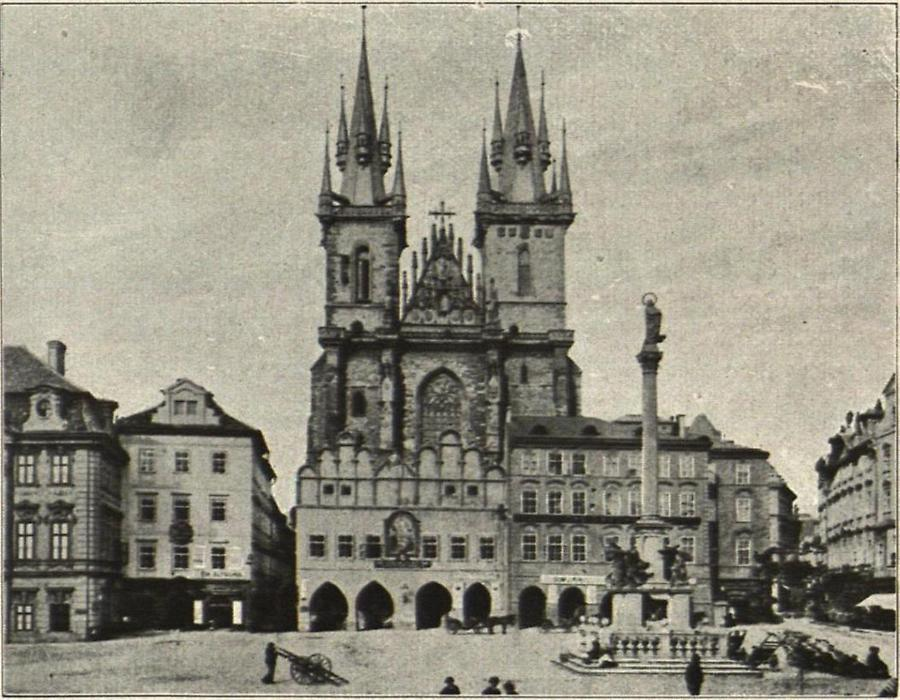 Illustration Prag: Teynkirche