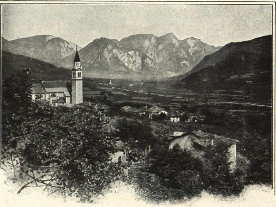 Illustration Das Etschtal bei Rovereto