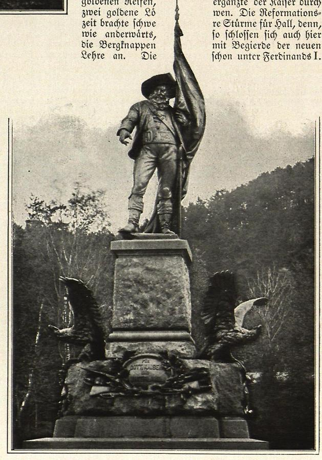 Illustration Andreas Hofer Denkmal auf dem Berg Isel